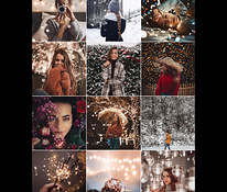 Beautiful and Festive processing and retouching photos,video