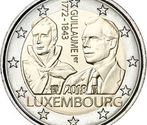 "Luksemburg 2 euro 2018a. ""Grand Duke Guillaume Ist"" UNC"