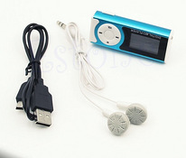 USB Clip MP3 Player LCD Screen Support 16GB Micro SD TF Card