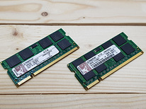 DDR2 Kingston 1GB tk sülearvutile 2tk komplekt