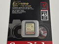SanDisk Extreme SDHC 32GB 45MB/s Class 10 UHS-I U3